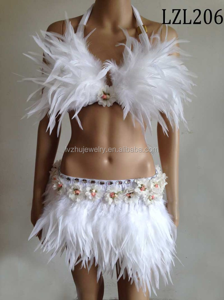 Showgirl/Dance Burlesque Feather samba costume LZL206