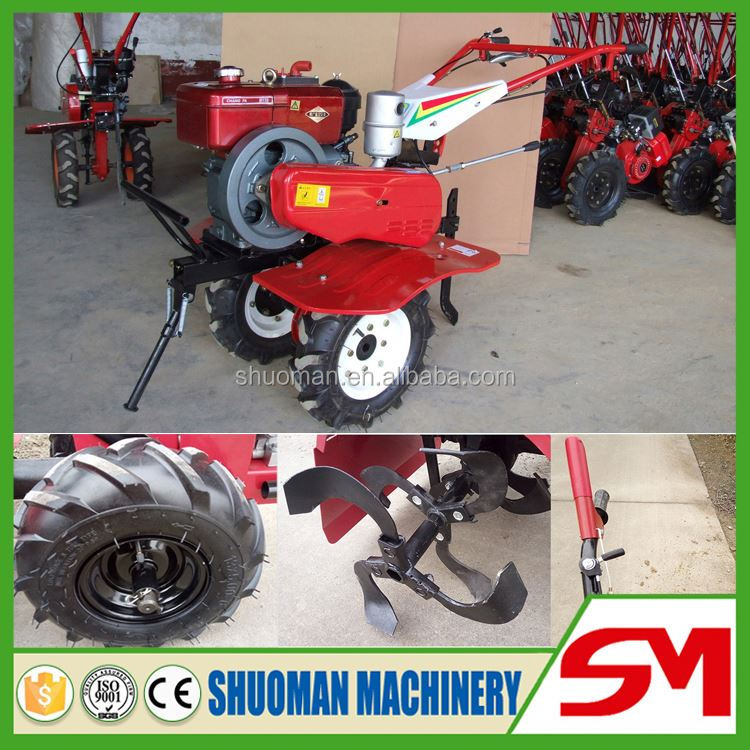 Fuel-efficient wheel hoe cultivator