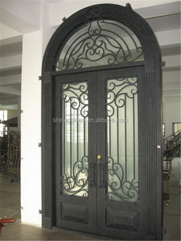 2014 hot sale product antique and elegant wrought iron double entry