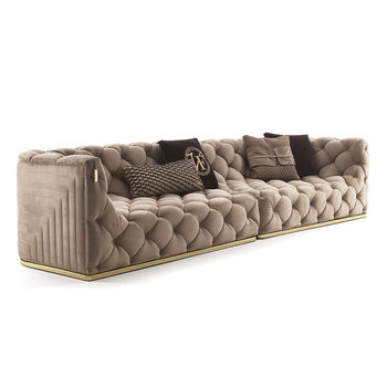 Modern chesterfield style sofa wooden sofa set designs