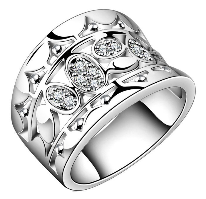 Get Quotations Size 7 8 Trendy Hollow Silver Wide Band Rings For Women Ladies 925