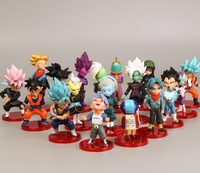 Dragon Ball Z 18 Piece Birthday Cake Deco Featuring Anime Dragon Ball Z action Figures Toys and Decorative Accessories