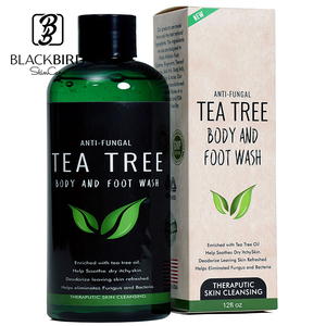 Private Label Natural Tea Tree Oil Antifungal whitening organic body wash