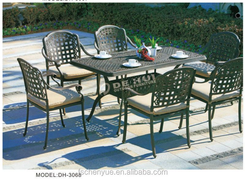 Antieke outdoor gegoten aluminium gegoten meubilair luxe balkon veranda tafels italiaanse - Woonkamer rotan voor veranda ...
