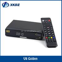 2016 Factory Supply Full HD V8 Golden Satellite Receiver V8 Golden open box s18 set top box