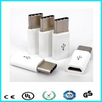 White color usb3.1 gender ABS usb-c adapter type-c type c connector for bank power