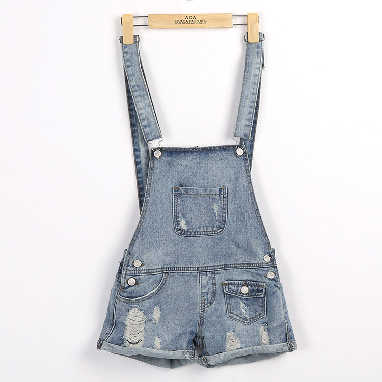 50848515abc5 Get Quotations · Hole was thin waist straps washed cotton overalls women  new women s denim shorts strap 6822