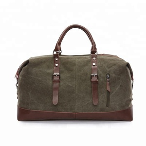 High end brand designer custom-made retro canvas duffle bags business men travel handbag