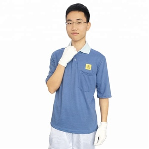 Custom Logo Antistatic Working Clothing ESD T Shirt