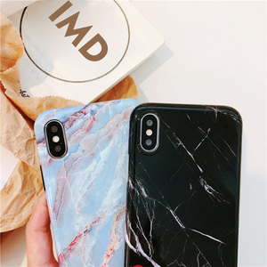 2019 Fashion OEM Customized Design IMD Marble Phone Case for Iphone X/XS