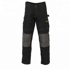 Custom logo classic knee pad trousers black gas station dhl work pants