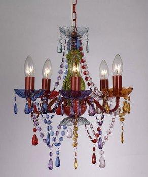 5 Tube Lights Modern Acrylic Ceiling Gypsy Chandelier Lighting ...