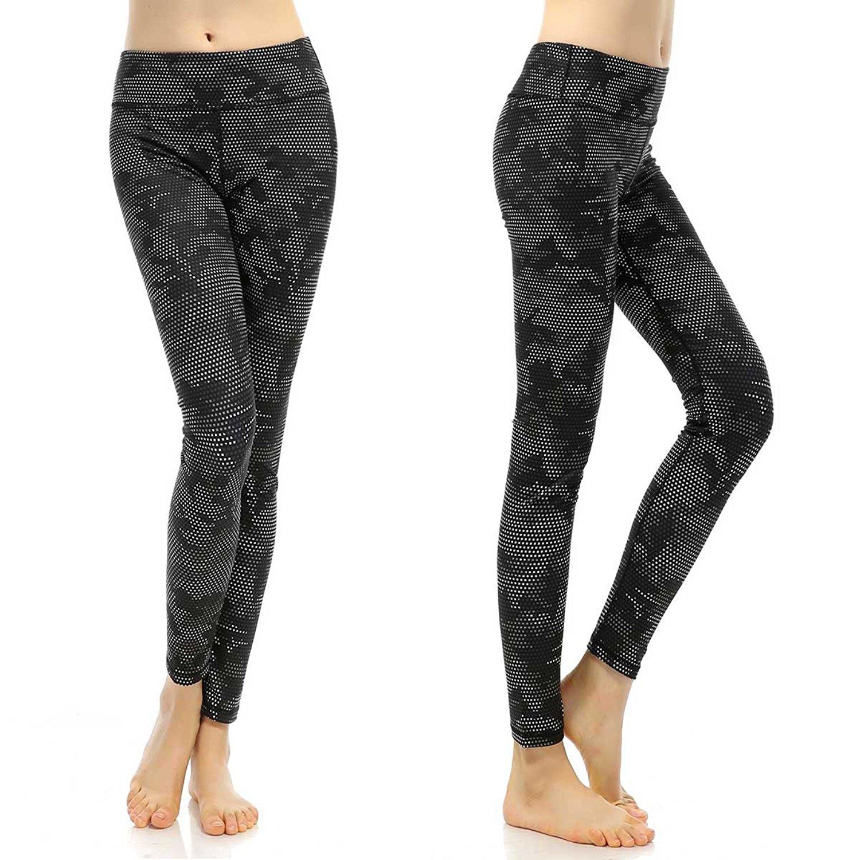 b88a9cb304e14e Get Quotations · Souteam Women's Workout Leggings High Waist Stretch Yoga  Pants, Watercolor Pattern
