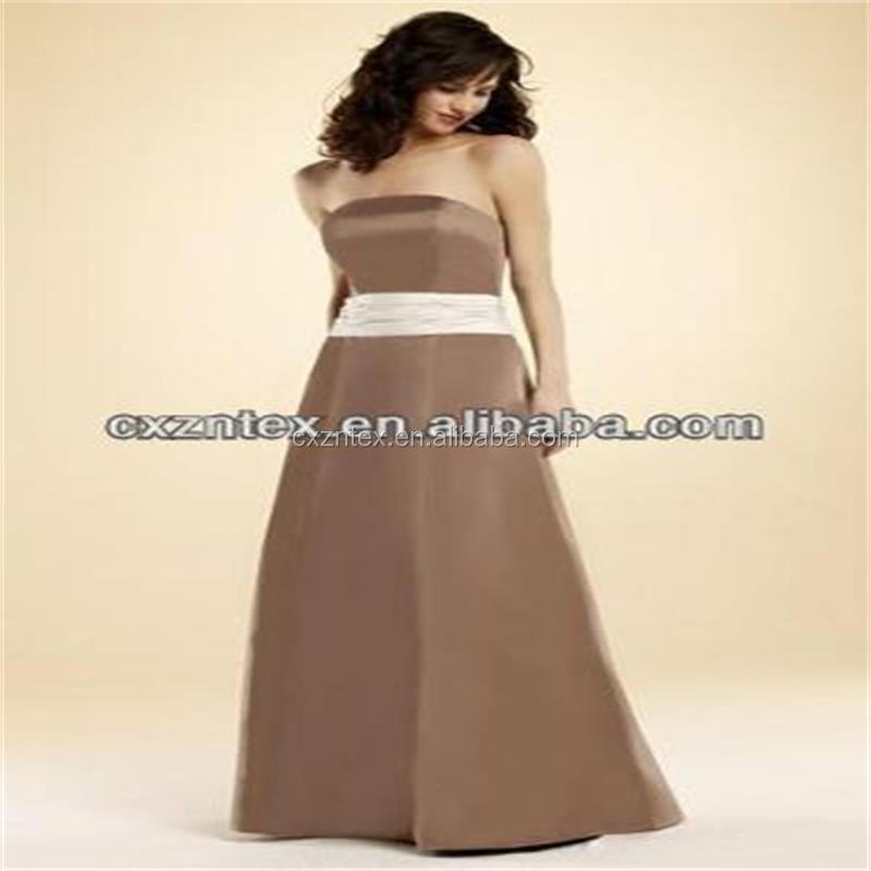 lady's wedding cloth or evening dress/dull satin fabric