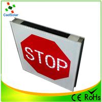 China manufacturer solar powered flashing led traffic stop warning signs