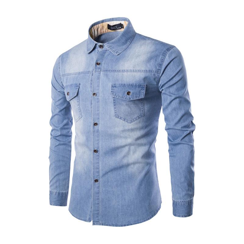 Compra Dril de algodón para hombre camisetas online al por
