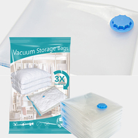 transparent vacuum pack space saver bags for clothes and pillows