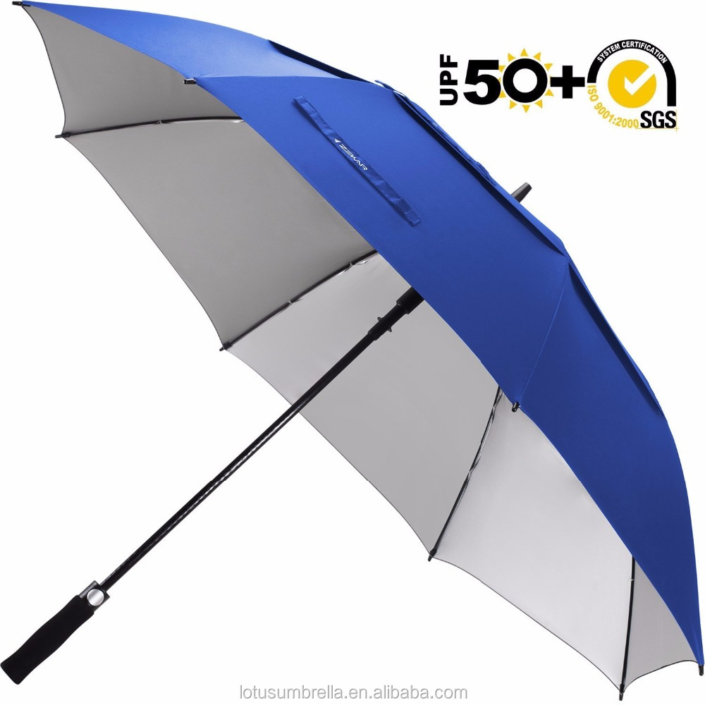 54/62/68 inch beach Windproof Large Vented Golf Umbrella mit Logo-Aufdruck Classic & UV Protection Version
