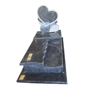 Bahama Blue Mass Blue Granite Tombstone