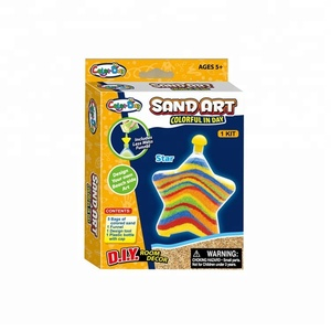 Educational Creative Handcraft DIY Sand Colorful Painting Art Kits for Kids