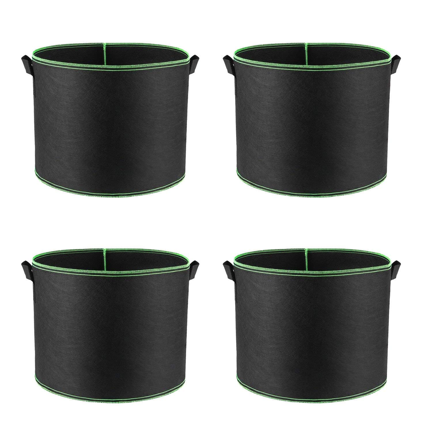 4-Pack 1 Gallon Grow Bags, Aeration Fabric Pots, Plant Container for Nursery Garden and Planting