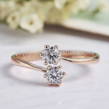High quality platinum plated latest gold design alloy ring for