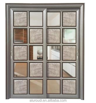China Supplier Aluminum Hanging Grill Glass Sliding Door