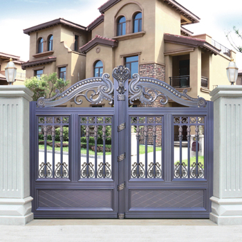 Hs Lh010 Different Color Steel Aluminum House Metal Front Door Gates