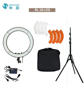 "2019 popular Bi-color Ring Fill Light 18"" camera phone makeup Ring Light Circle with stand"