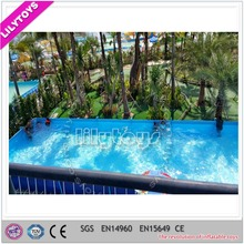 intex swimming pools/metal frame swimming pool for water park