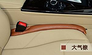 2Pcs brown color Auto Seats LeakStop Pad Soft Padding Car Seat Gap Filler