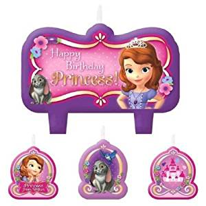 Peachy Buy Sofia Sophia The First Birthday Princess Party 4 Pc Candle Personalised Birthday Cards Cominlily Jamesorg