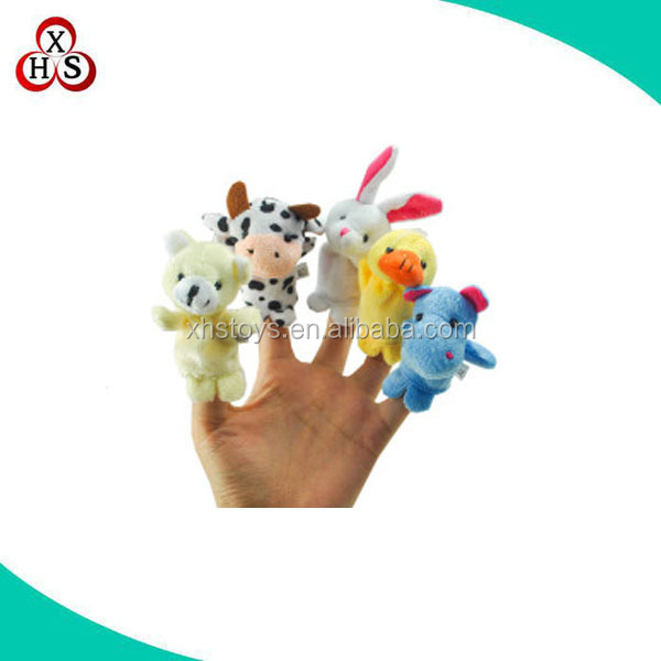 Custom finger puppet theater, plush mini educational puppet