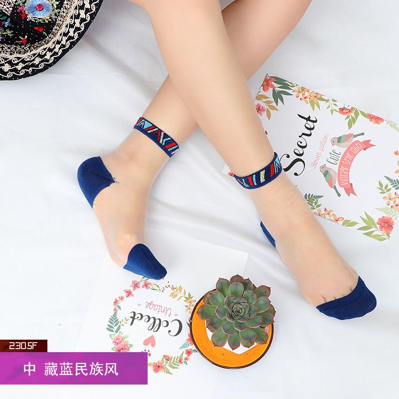 Сексуальные кружевные сетчатые шелковые носки в сетку, прозрачные эластичные тонкие женские носки, 1 пара = 2 шт. TMD02(Китай)