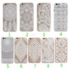 White Lace Pattern Mobile Phone Back Case Cover for iphone 5s 5c 6s 6s plus
