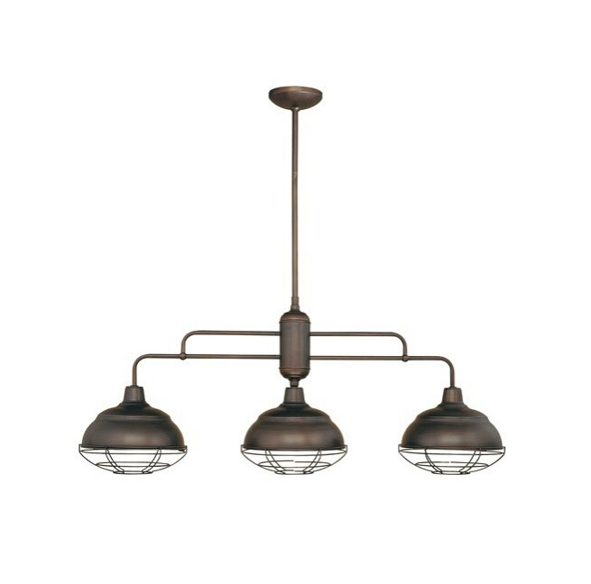 3 Heads Industrial Linear Caged Ceiling Light With Edison Bulb ...