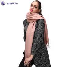 Women's Pashmina Scarf Shawl Wrap Stole Headscarf Soft in Plain Solid Colors Pink