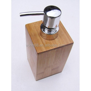 Wholesale Bamboo Lotion Holders, Wooden Shampoo Box, Bathroom Accessories