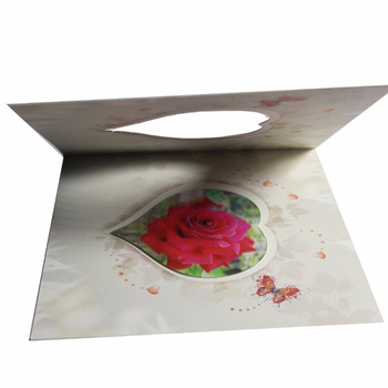 High quality 3d lenticular greeting card make birthday love card free samples