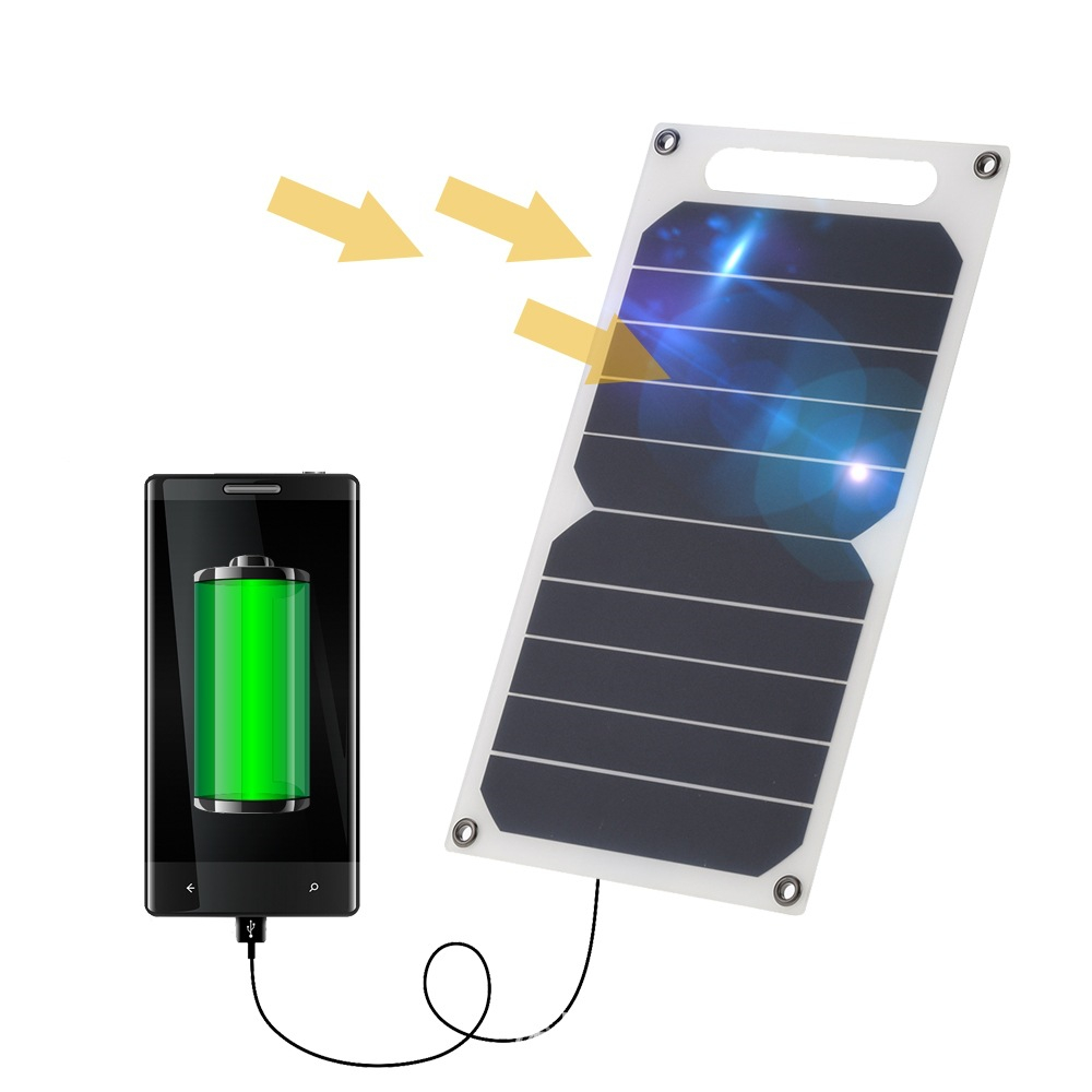 야외 하이킹 산 등반 휴대용 충전기 Solar Charger Power Bank 1200 mah w USB Output Ports