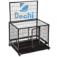 "42"" Heavy Duty Metal Dog Cage Pet Crate Kennel Tray Wheels Folding Portable dog cage"