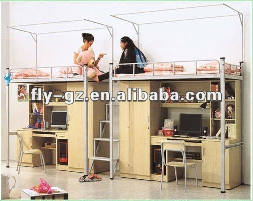 Madera doble litera nico literas cama litera con - Camas literas con escritorio ...