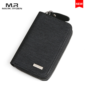 Mark Ryden Wholesale Unisex Designer Leather Canvas Cotton Wallet Card Holder Coin Purse Mens Slim Wallets MR6333