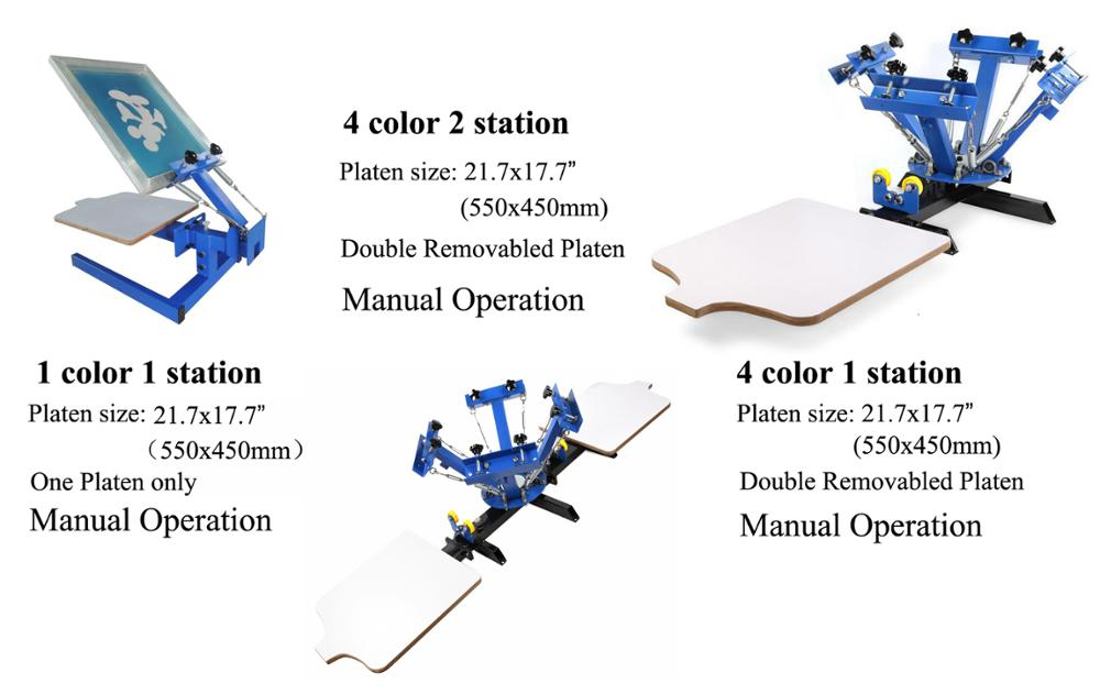 Hot sale silk screen printing machine printer press equipment