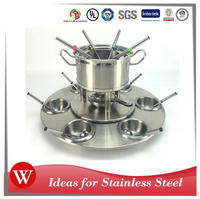 21PCS 2L Stainless Steel Cheese Chocolate Fondue Set
