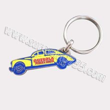 2012 customized car metal keychain with keyring