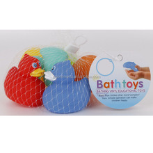 baby toys floating rubber animal in bathtub