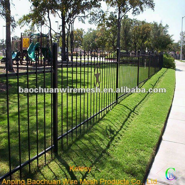 Polyester powder coat paint road barrier Wrought Iron Fence
