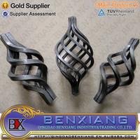 decorative parts Q235 iron rod wrought iron basket