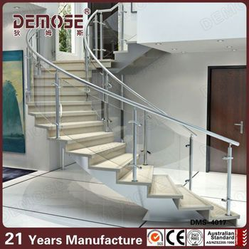Height Quality Curved Stairs Glass Railings Design Buy Staircase